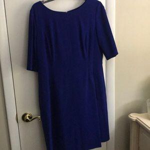 Royal blue Tahari dress with pockets